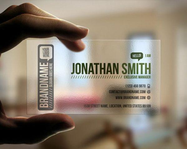 name card trong suot 005 Name card trong suốt: xu hướng thời thượng doanh nhân