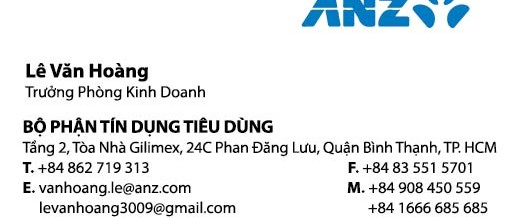Name card ANZ