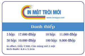 In name card, in danh thiếp, in card visit, in giá rẻ tp hcm, in nhanh lấy liên, giao hàng tận nơi