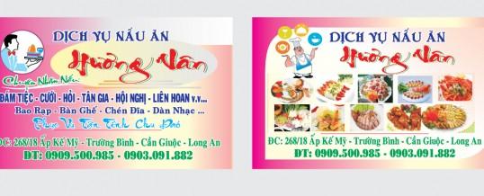 Mẫu in name card Nhà Hàng, Quán ăn, Ẩm thực