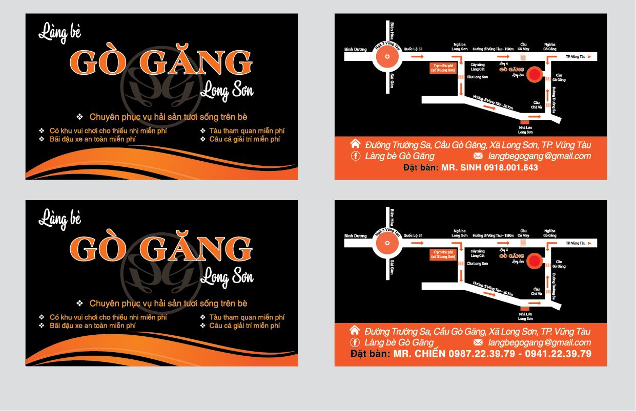 In Name card giá rẻ nhà hàng khách sạn