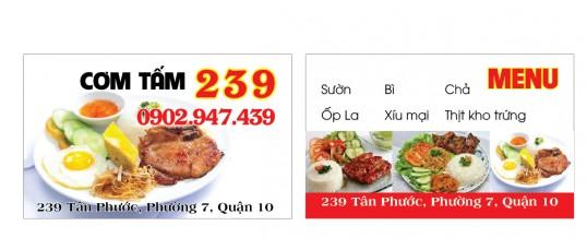 In name card nhà hàng quán ăn