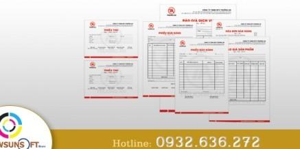 Biểu mẫu, hóa đơn bán lẻ, phiếu thu, phiếu chi, order…