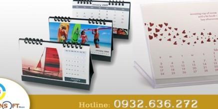 Lịch treo tường(Wall calendar), lịch để bàn( desk calendar), lịch cầm tay( Hand held calendar)…